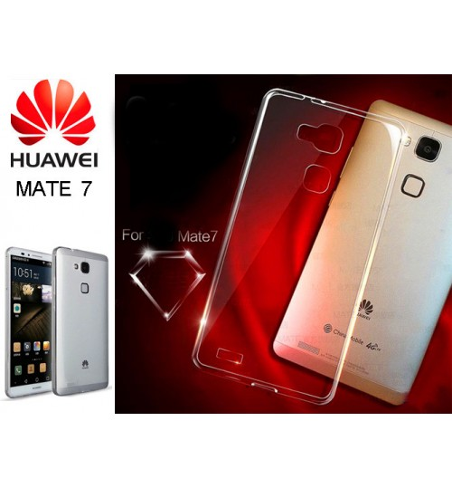Huawei Mate 7 case clear gel Ultra Thin soft tpu case cover