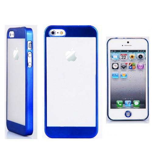 Iphone 5 5s case slim crystal hard case+SP+PEN