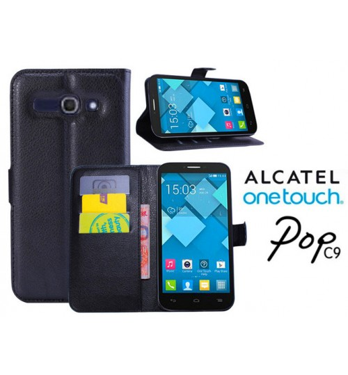 Alcatel OneTouch POP C9 case wallet leather case