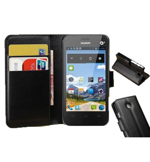 Huawei Y330 wallet leather case+combo
