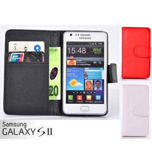 samsung galaxy s2 case wallet leather case+combo