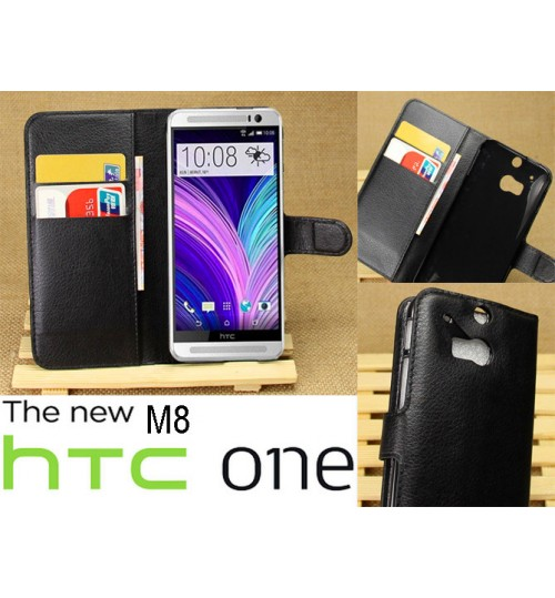 HTC ONE M8 case wallet leather case