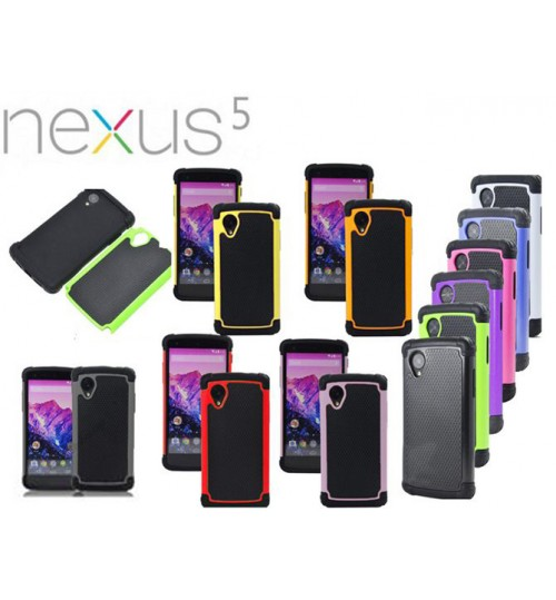nexus 5 three-piece heavy duty impact proof case