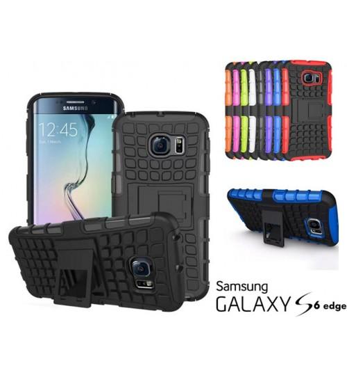 Galaxy S6 edge Case Heavy Duty Hybrid Kickstand