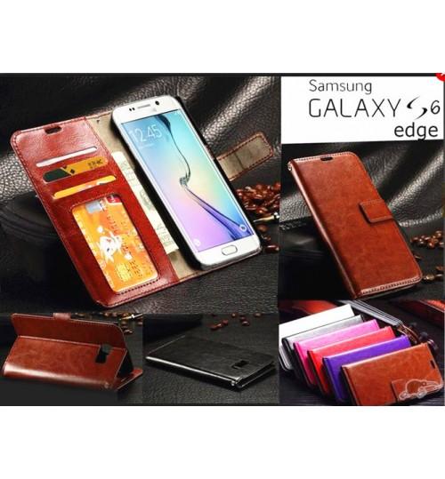 Galaxy S6 edge vintage fine leather wallet case