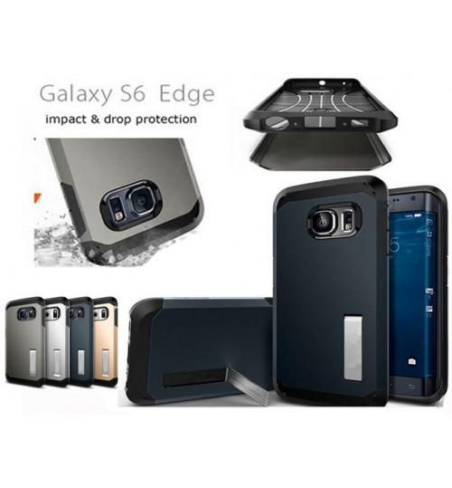 Galaxy S6 edge Anit Shock impact proof Slim Kickstand case