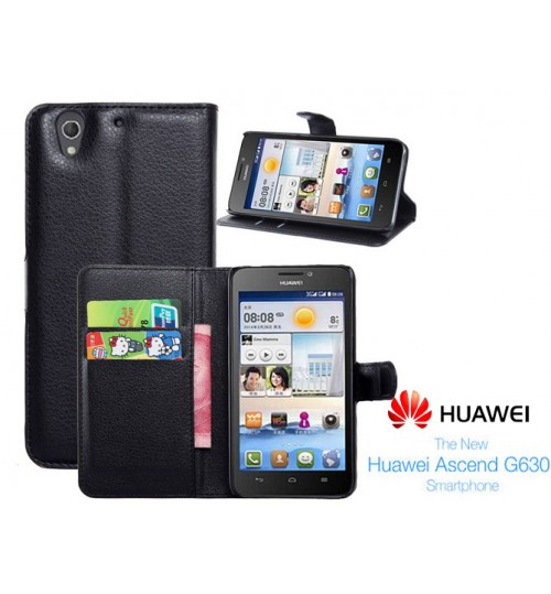 Huawei G630 wallet leather case+Pen