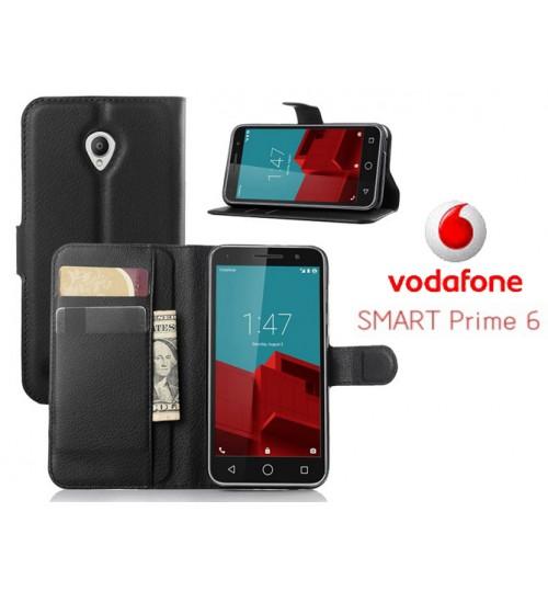 Vodafone Smart Prime 6 case wallet leather case+Pen