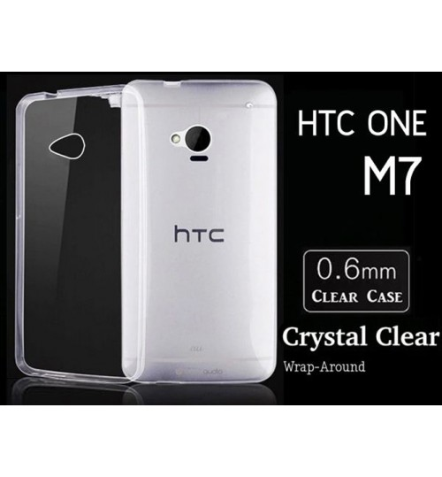 HTC ONE M7 case clear gel Ultra Thin