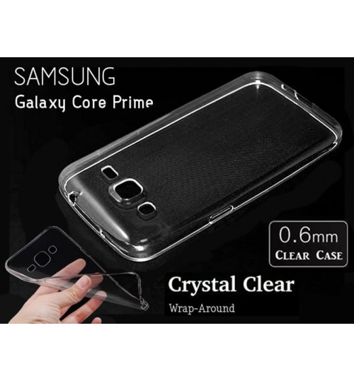Samsung Galaxy Core Prime case Soft Gel Thin Clear