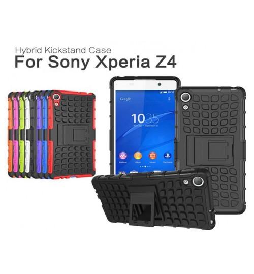 Sony Xperia Z4 Case Heavy Duty Hybrid Kickstand
