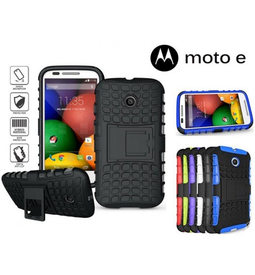 Moto E Case  HV Duty KickStand case+Pen