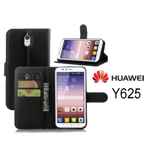 Huawei Ascend Y625 wallet leather case+Pen