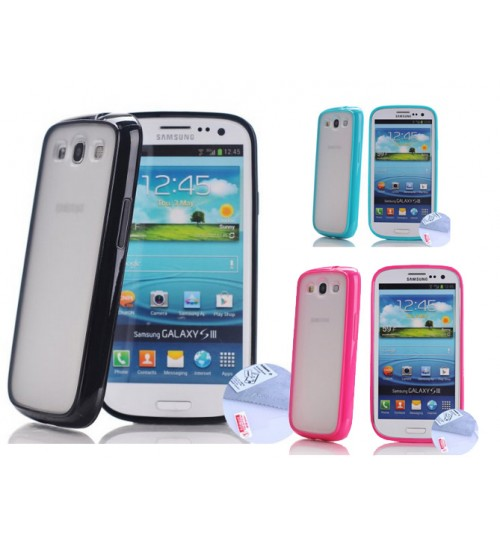 Samsung Galaxy S3 9300 case bumper w frosted back