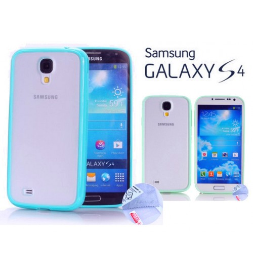 Samsung Galaxy S4 9500 case bumper w frosted back