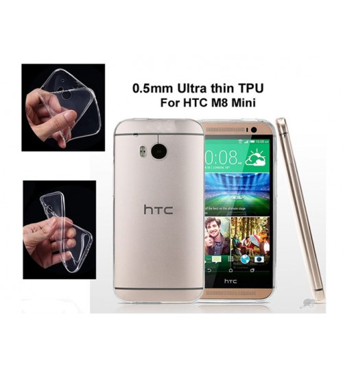 HTC ONE M8 Mini case clear gel Ultra Thin