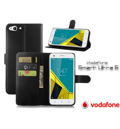Vodafone Smart Ultra 6 wallet leather case+Pen