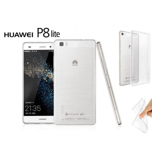 Huawei P8 Lite case clear gel Ultra Thin+Pen