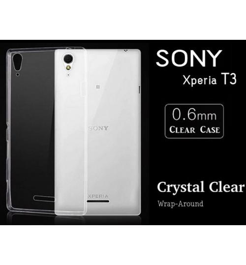 Sony Xperia T3 Case clear gel Ultra Thin Sony