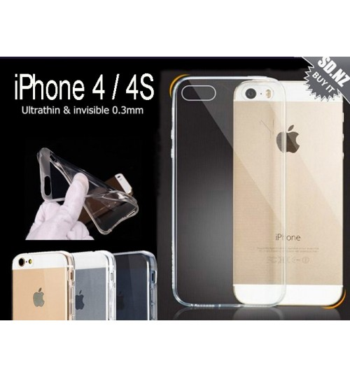 iPhone 4 4s  Case Clear Gel Ultra Thin +SP