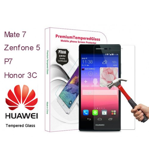 Huawei Mate 7 Tempered Glass Protector P7 P6 Honor 3C Tempered Glass Protector