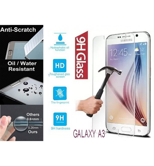 Galaxy A3 tempered Glass Screen Protector Film Samsung