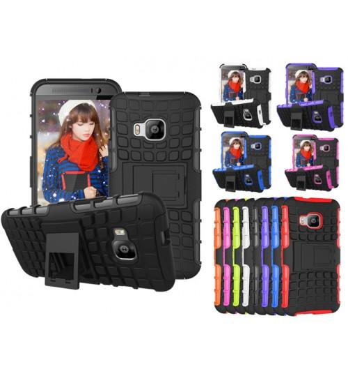 HTC One M9 Case Heavy Duty Hybrid Kickstand case