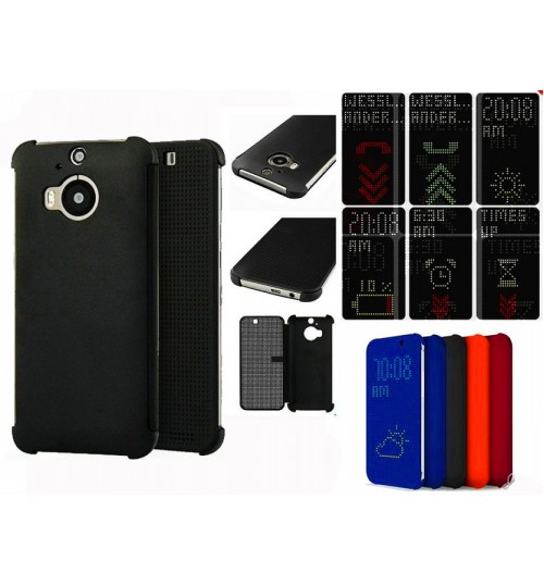 HTC one M9+ M9 Plus case dot view flip case