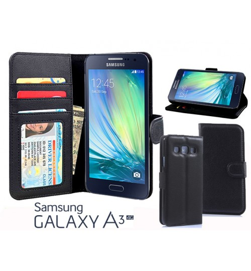 Samsung Galaxy A3 Case wallet leather  ID window