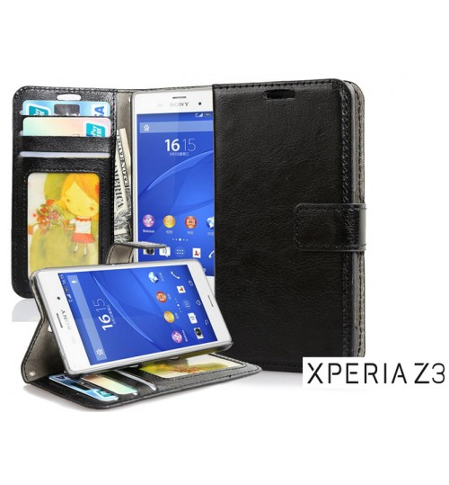 Sony xperia Z3 vintage fine leather ID walle case