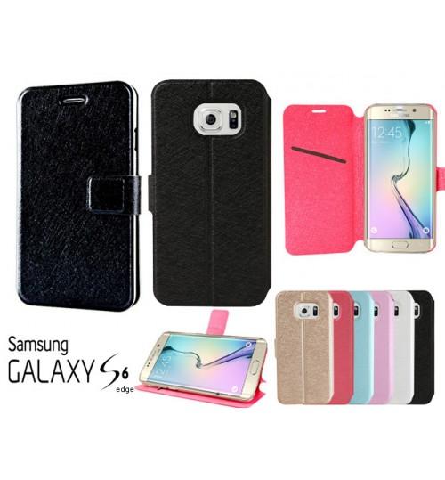 Galaxy S6 edge case luxury slim flip case cover