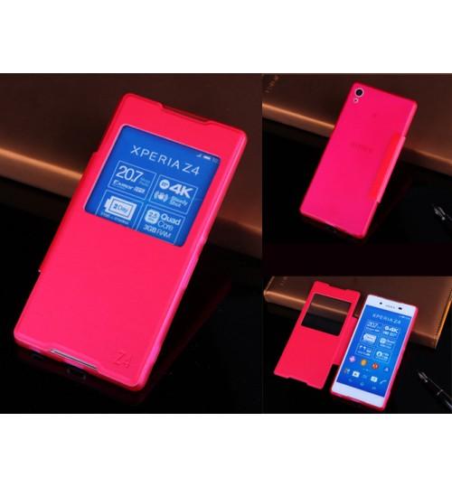 Sony Xperia Z4 case Leather Flip window case
