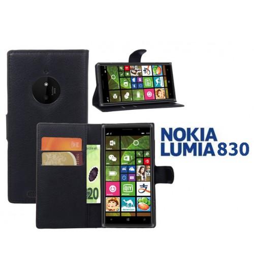 Microsoft Nokia Lumia 830 case wallet leather