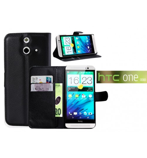 HTC One E8 Case Wallet leather cover