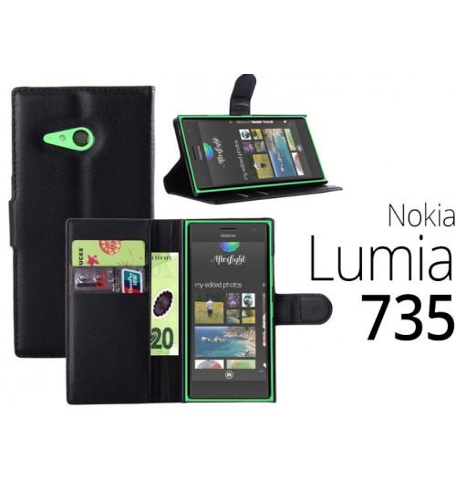 Nokia Lumia 730 735 case wallet leather case+Pen