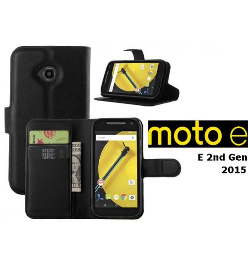 Moto E2 2015 case wallet leather case+Pen