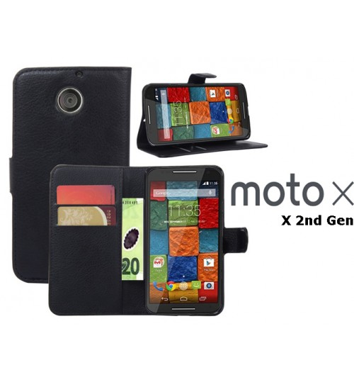 Moto X 2nd Gen case wallet leather case+Pen Motorola