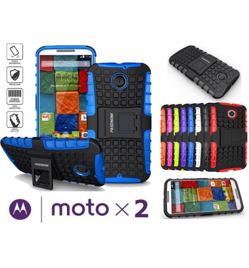Moto X 2 Case  HV Duty KickStand case+Pen
