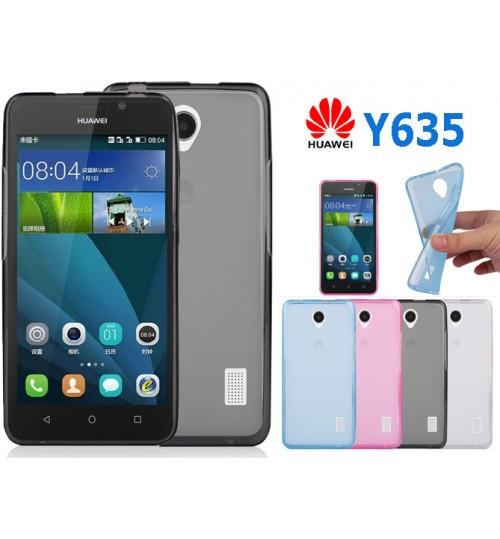 Huawei Y635 case TPU Soft Gel Case+Pen