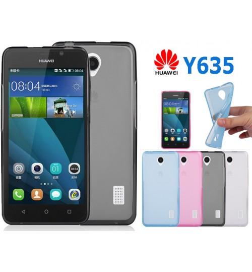 Huawei Y635 case TPU Soft Gel Case+Pen