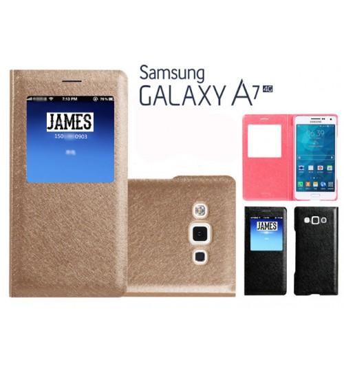 Galaxy A7 case luxury view window Samsung case