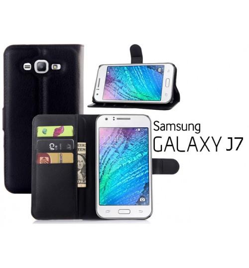 Samsung Galaxy J7 case wallet leather case