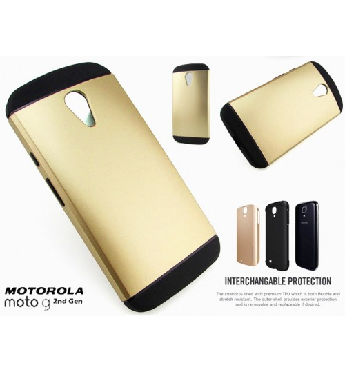 Moto G 2nd Gen G2 Slim Anti-shock hard case+Pen