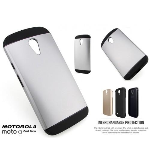 Moto G 2nd Gen G2 Slim Anti-shock hard case+Pen