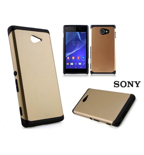 Sony Xperia M2 Slim Anti-shock hard case+Pen