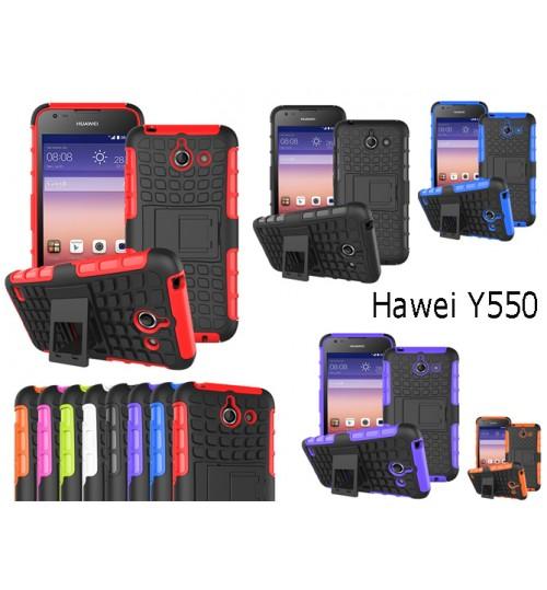 Huawei Y550 Case Heavy Duty Kickstand case