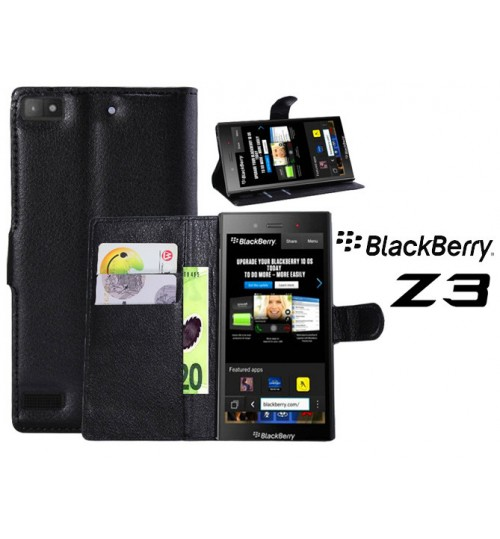 Blackberry Z3 Wallet Leather Case Cover