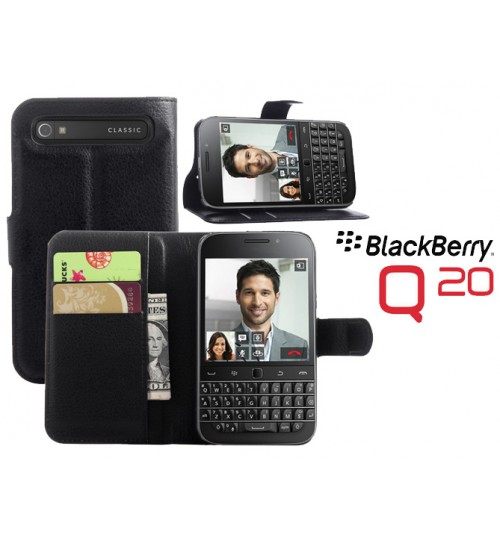 Blackberry Q20 Wallet Leather Case Cover