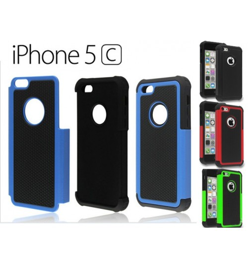 iPhone 5c case three-piece heavy duty case cover