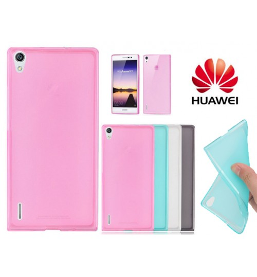 Huawei P7 case TPU Soft Gel Case+Pen
